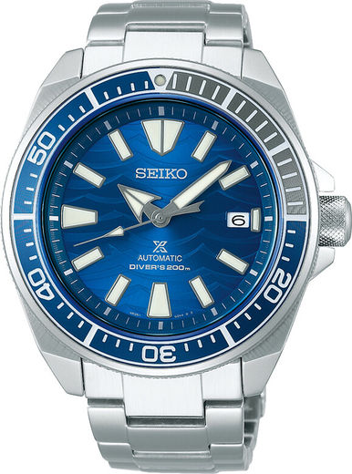 SEIKO Prospex Samurai Save The Ocean Great White Shark Special Edition -miesten rannekello